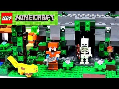 Лего Майнкрафт Храм в Джунглях 21132. Как сделать игру Майнкрафт в жизни. Видео Lego Minecraft