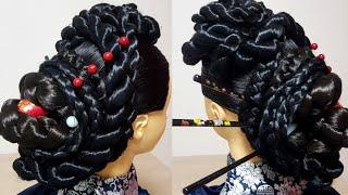 명절 한복 머리 스타일, 한국 전통 머리 스타일 / K…