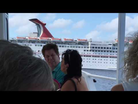 Tender ride from Grand Cayman to the Carnival Paradise