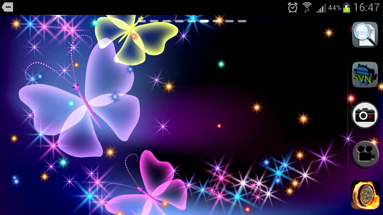 Glitter And Sparkle Effect Butterfly Live Wallpaper For
