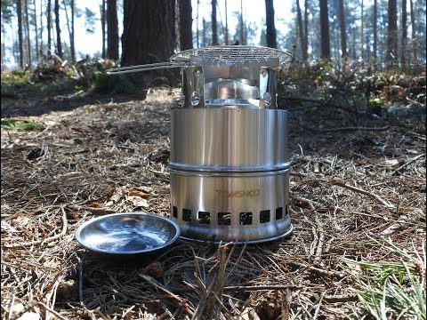 Tomshoo Wood Gas Stove- First Look & Test.