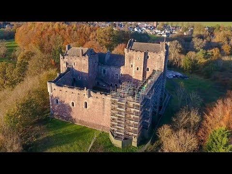 Doune Castle - Scotland - drone footage