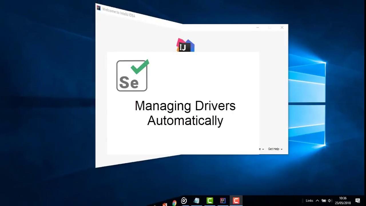 Selenium WebDriver Manager