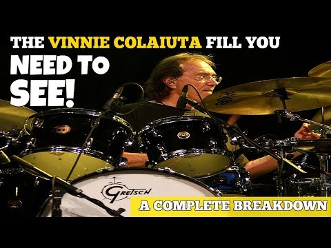 The VINNIE COLAIUTA FILL You NEED TO SEE!  Complete Breakdown