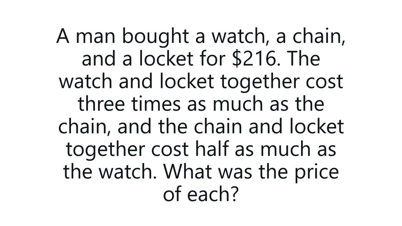 Solve If You Are A Genius (From 1869)  Harvard Admissions Question Algebra  Problem