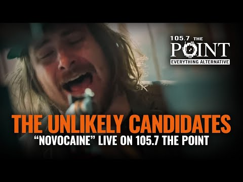 The Unlikely Candidates - Novocaine (LIVE) acoustic performance in the Point Studio