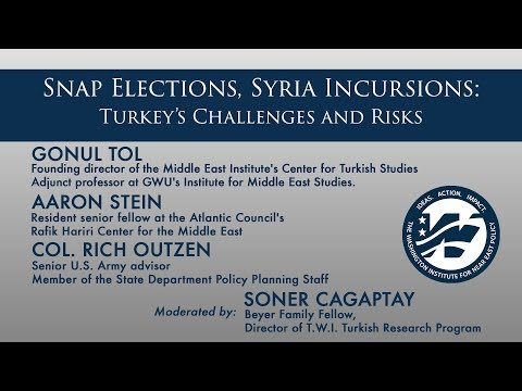 Snap Elections, Syria Incursions: Turkey's Challenges and Risks