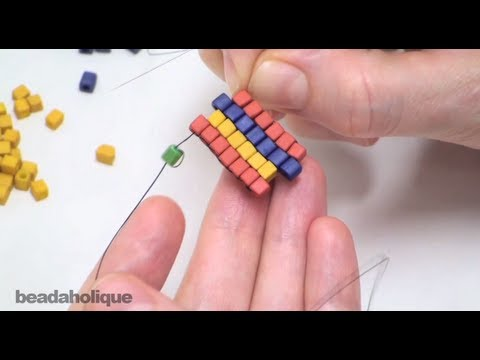 How To Do Brick Stitch Bead Weaving Youtube