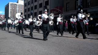 Wasson Marching Band in the Veterans Day parade - CO Spgs