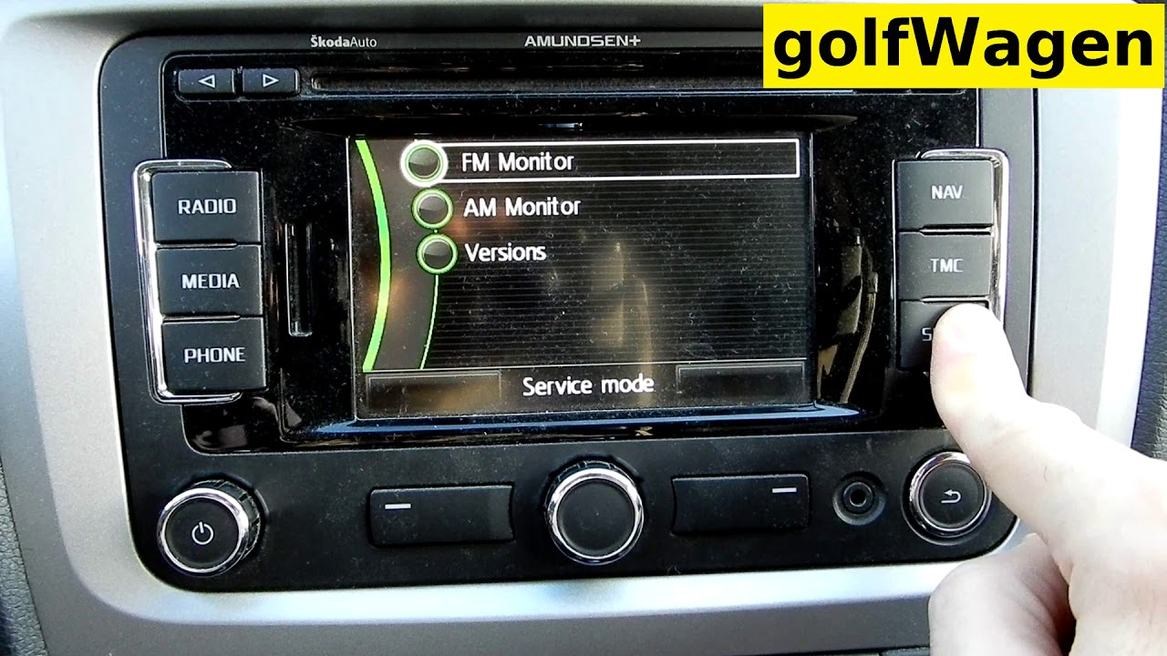 VW radio RNS315 hidden service menu / activate developer mode service menu