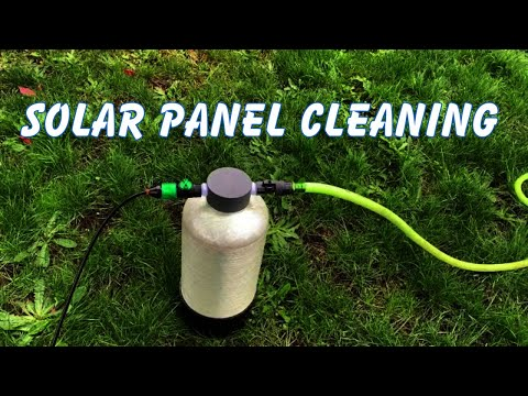 Solar Panel Cleaning With The Water Fed Pole in Vancouver WA