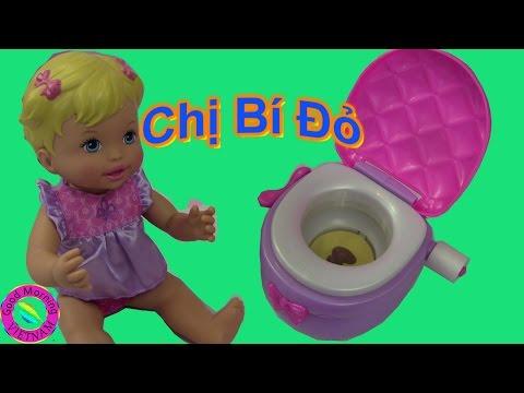 Búp Bê Công Chúa Em Bé Tập Ngồi Bô Little Mommy Doll The Potty And The Princess Toilet Tranning Toys