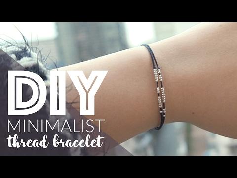 DIY: Minimalist Thread Bracelet with Seed Beads