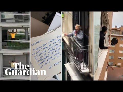Community spirit in coronavirus quarantine: rooftop aerobics, singing and letters