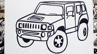 Como dibujar un carro  | how to draw a car step by step