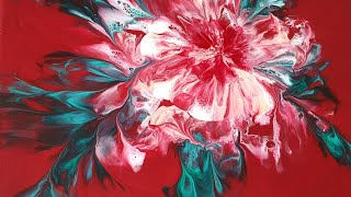 (85) How to save an unsat flower _ Acrylic Pouring _ Designer Gemma77