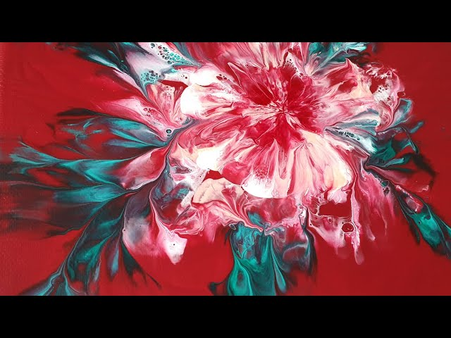 85) How to save an unsat flower _ Acrylic Pouring _ Designer