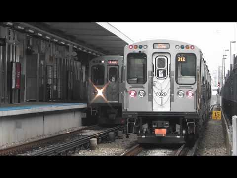 CTA 5000-Series Cars are Back!  Pink Line at Laramie / 54th/Cermak, 05.07.12