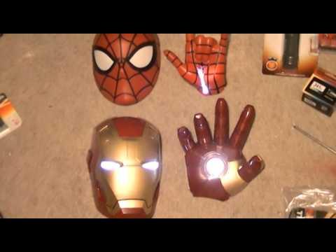marvel light masks crash through wall fx - 3d light fx - iron man - spider man - part 2 - YouTube