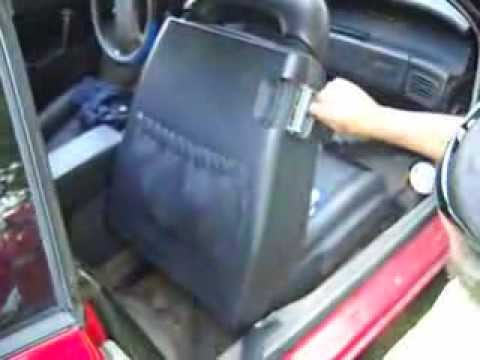 1987 1992 Cadillac Allante Seat Back Removal How To Youtube