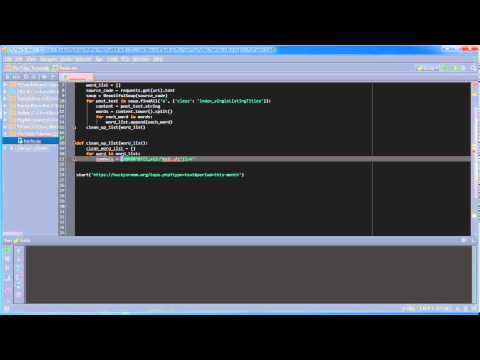 Python Programming Tutorial - 36 - Word Frequency Counter (2/3)