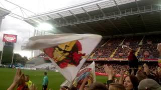 Ambiance à Bollaert lors du match Lens-Reims 12éme journée de L2