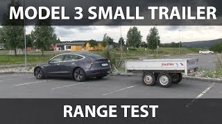 Tesla Model 3 test with small trailer