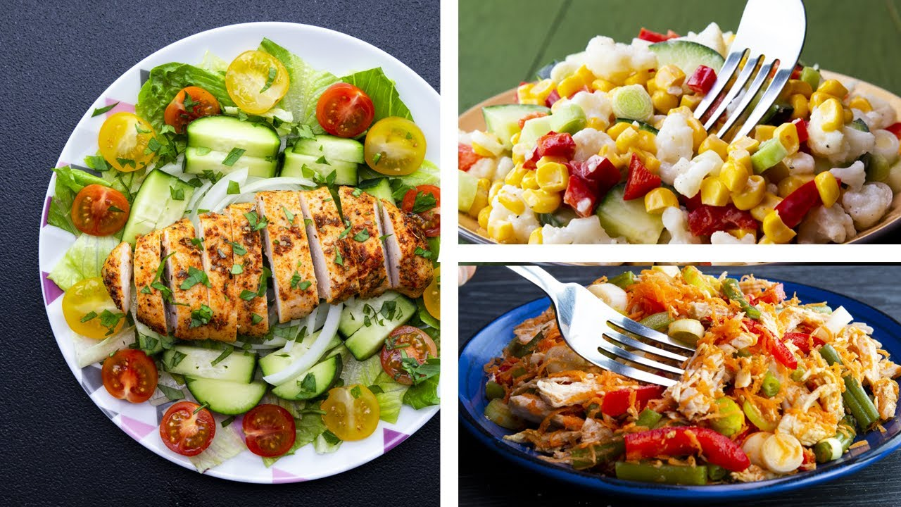 7 Healthy Salad Recipes For Weight Loss Youtube