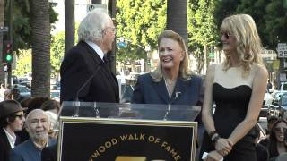 Diane Ladd, Laura Dern and Bruce Dern receive Stars on the Hollywood Walk of Fame