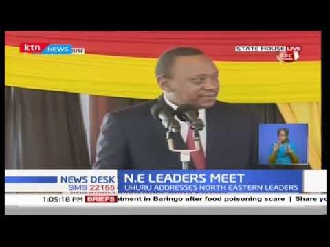 President Uhuru Kenyatta hosts North Eastern Leaders at the State House