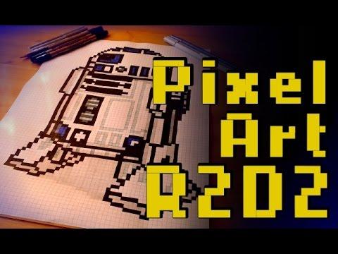 Star Wars R2d2 Pixel Art Speed Drawing