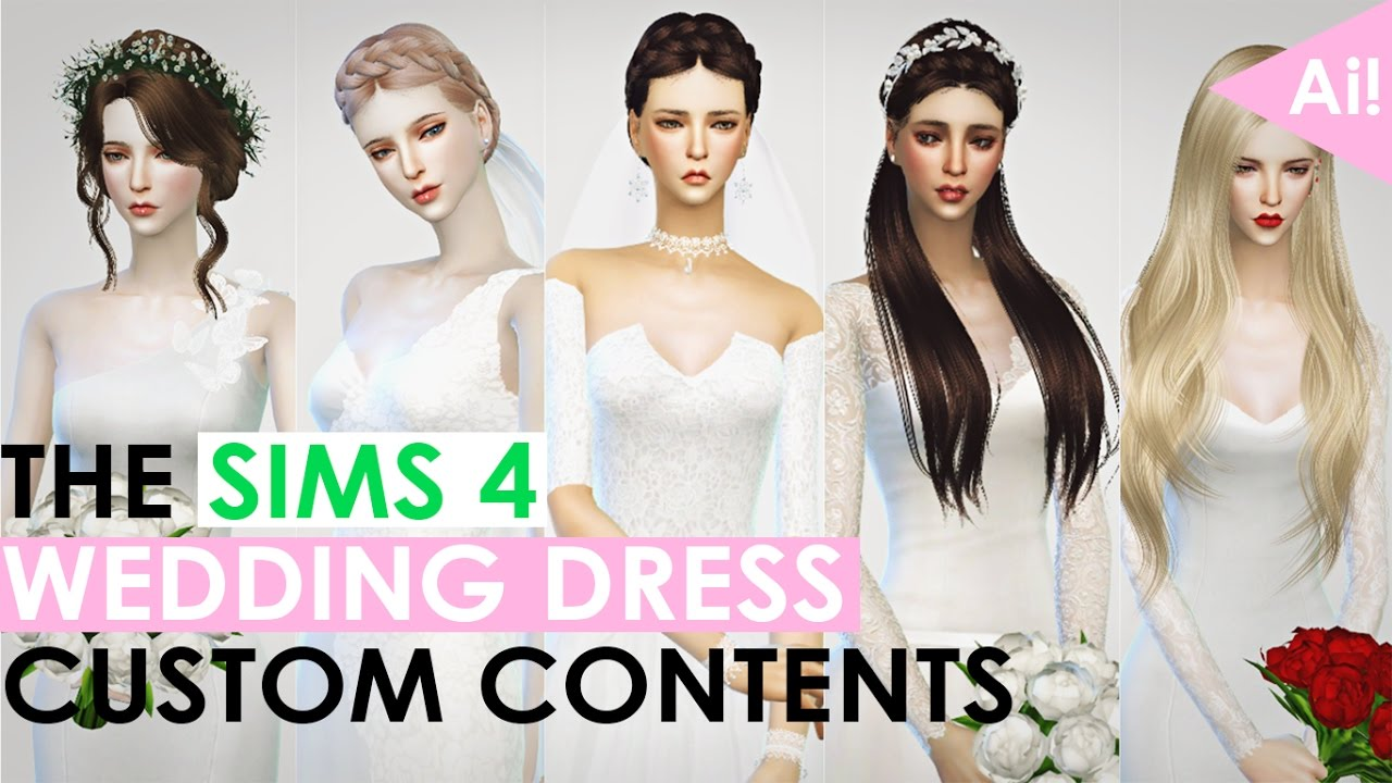 The Sims 4 Wedding Dress Custom Contens Youtube