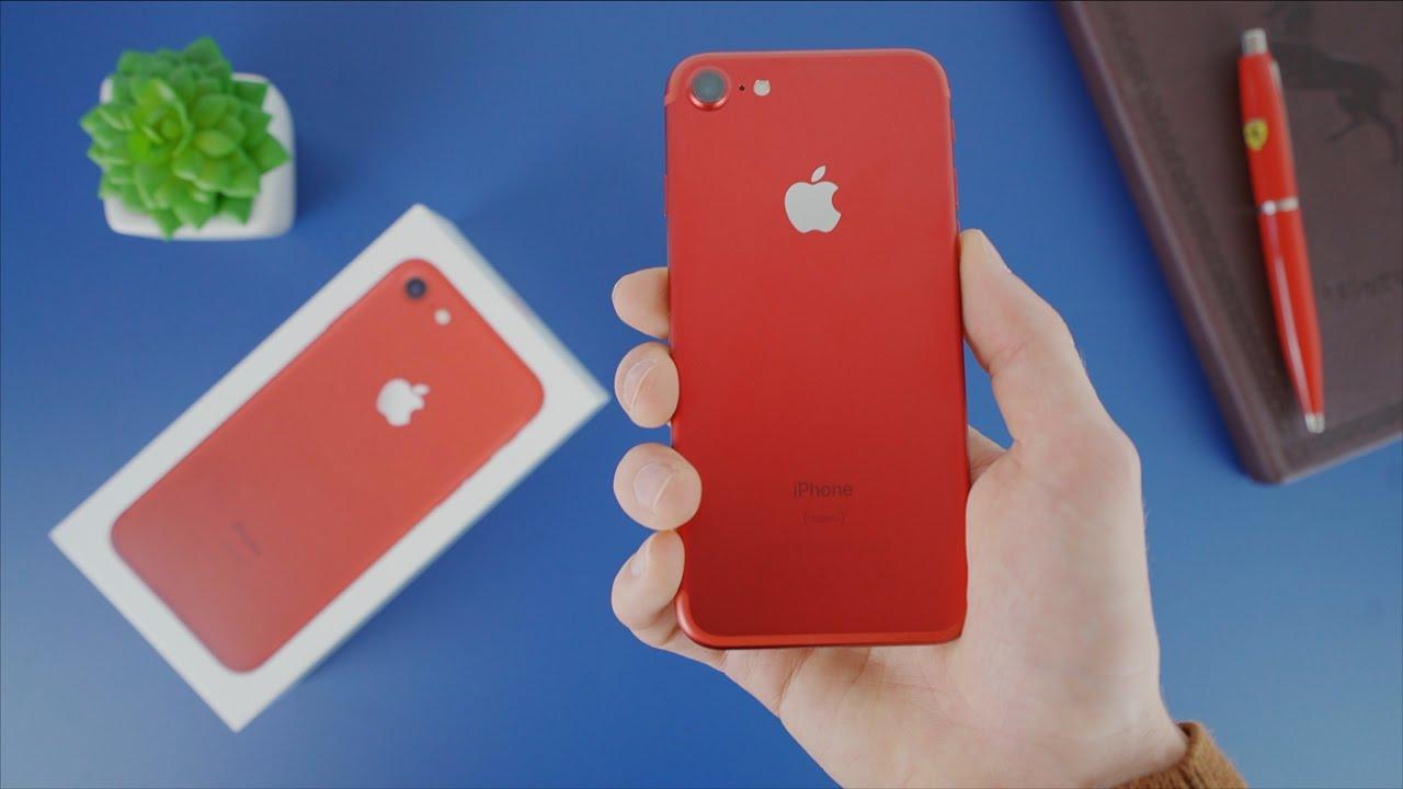 iphone 7 rouge sp cial edition d ballage et prise en. Black Bedroom Furniture Sets. Home Design Ideas