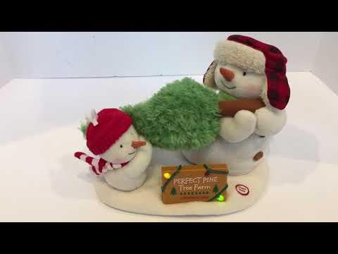 Hallmark 2014 The Perfect Tree Singing Duo Jingle Pals Christmas Plush