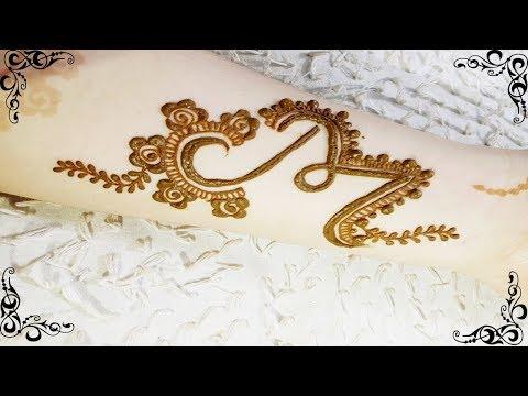 Beautiful Tattoo Mehndi Design | Alphabet 'M' Tattoo Mehndi Design.