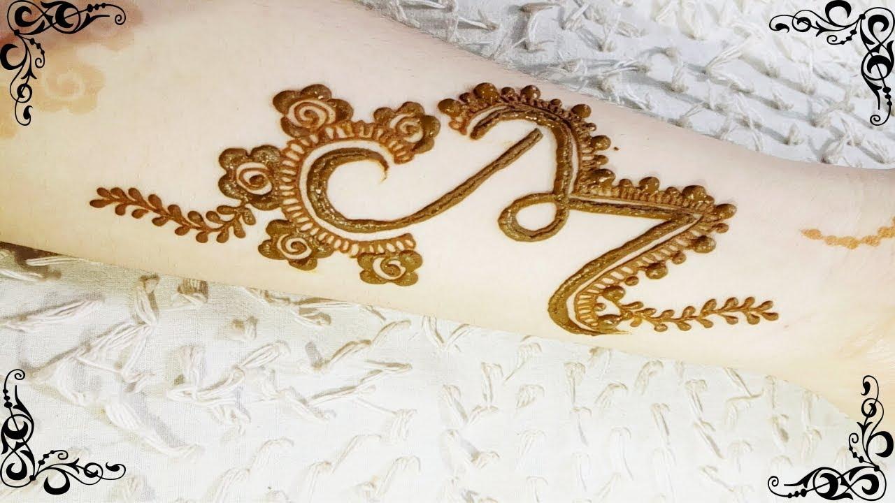 Beautiful Tattoo Mehndi Design | Alphabet 'M' Tattoo Mehndi Design