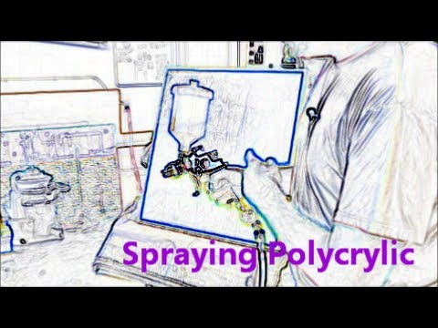 5 --  Spraying Polycrylic (Yes You Can!) - Tutorial
