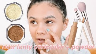 fenty beauty concealer + setting powder review..