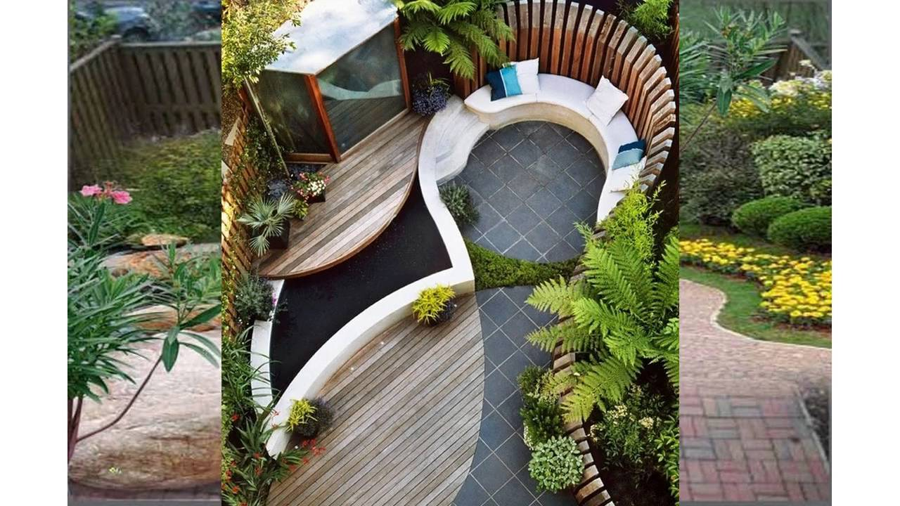 Small backyard garden design youtube for Small backyard garden design
