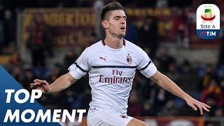 Piątek Opens the Scoring for AC Milan | Roma 1-1 Milan | Top Moment | Serie A