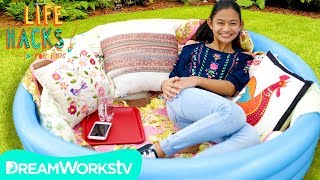 DIY Chill Zone + Other Backyard Party Hacks | LIFE HACKS FOR KIDS