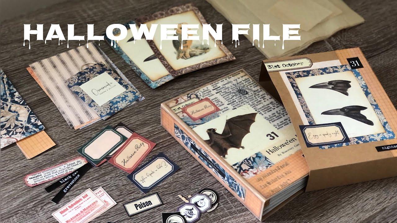 【作ったものの紹介・ASMR】ハロウィンおすそ分けファイルと小物 Osusowake File Flip Through