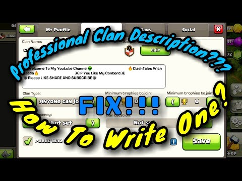 Writing A Professional Clan Description | Clash Of Clans