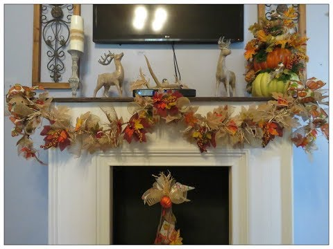 Tricia's Creations: Fall Rope & Leaves Garland