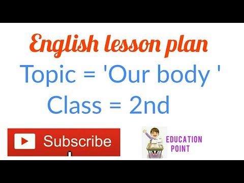 English lesson plan on Our body D el ed, jbt, Nios (Education point)