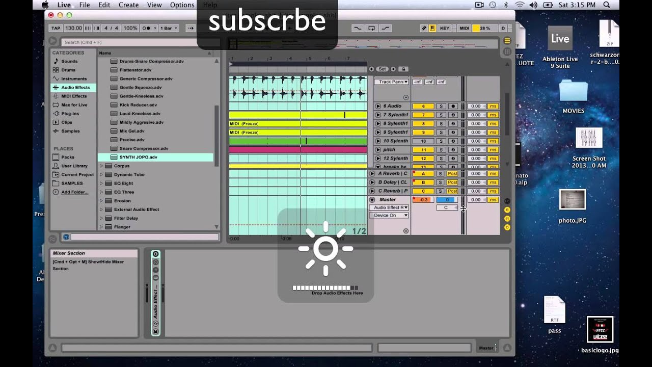Ableton live 9, Fruity Loops, Cubase, Reason, Logic Pro Mastering Services