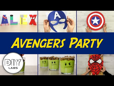 AVENGERS Kids Party | DIY Decorations, Snacks, Party Favors and Birthday Cake