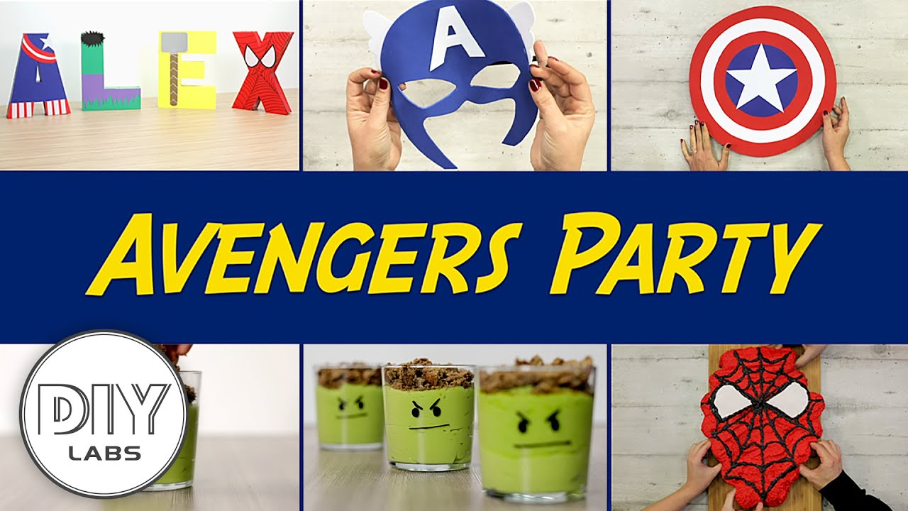 AVENGERS Party  DIY Decorations, Snacks, Party Favors and Birthday Cake