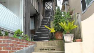 Potted Plant Blocking Stairway - Lawyers Love Things Like These