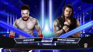 WWE 2K15- Roman Reigns vs Sheamus Normal Match at SmackDown 2015 (PS4)